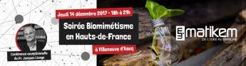 Satt actualité : La SATT Nord partenaire de la soirée Biomimétisme en Hauts-de-France le 14 décembre