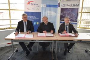 Satt actualité : L'IRT Railenium, le Pôle de Compétitivité i-Trans, et La SATT Nord signent une convention de partenariat