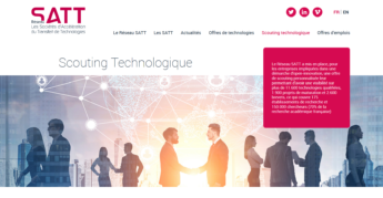 Satt actualité : le Réseau SATT lance une offre de scouting technologique personnalisée à destination des Grands Groupes et des ETI