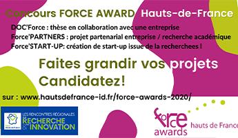 Satt actualité : Concours Force Award Hauts-de-France : Candidatez !!