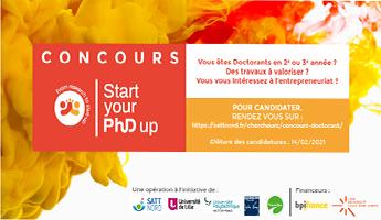 Satt actualité : Lancement du concours Doctorant «Start Your PhD Up» En partenariat avec l'universite de Lille, l'UPHF, l'UPJV et transalley