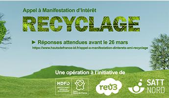 Satt actualité : Vous avez un projet innovant sur la thématique du recyclage issu ou en partenariat avec la recherche ? Cet AMI est fait pour vous !