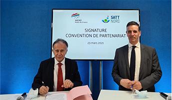Satt actualité : Le MEDEF Hauts-de-France et la SATT Nord signent une convention de partenariat pour un rapprochement  gagnant entre la recherche publique et le monde économique au  service de l'innovation technologique