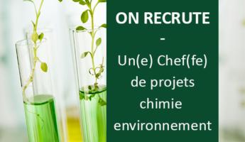 Satt actualité : On recrute un(e) chef(fe) de projets chimie environnement – CDI basé à Amiens